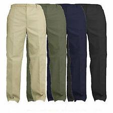 Mens Elasticated Waist Work Casual Rugby Trousers Pants Smart Rugby Trousers Lot