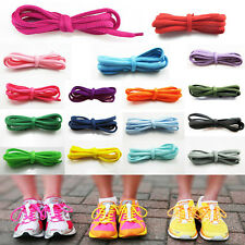 2 Pairs of Oval Shoe Laces Trainer Boot Laces Various Colour Neon Colour 110cm