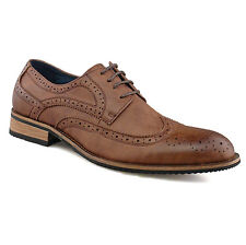 Mens Gents Boys New Brown Leather Lined Work Wedding Lace-up Brogues 6 - 12