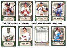 2006 Fleer Greats of the Game Baseball Set ** Pick Your Team **