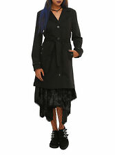 Royal Bones By Tripp Grommet Lace-Up Black Trench Coat Hot Topic JRS M & XL NEW