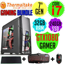 Thermaltake Gaming Bundle Core i7-7700 Nvidia GTX1080 KB&M Desktop Computer PC