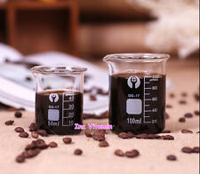 Coffee Measuring Cup Glass Beaker Espresso Graduated Borosilicate Laboratory Lab