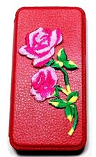 Woodys Originals Inc.Rose Flower Red Leather Cell Phone Cases