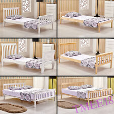Wood Bed Frame Bedstead Slatted Bed Bedroom Furniture Single Double King Size