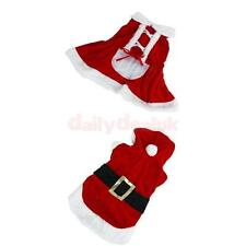Santa Claus Christmas Pet Dog Dress Costume Clothing Coat Apparel Size XS-L