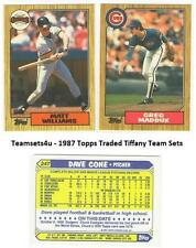 1987 Topps Traded Tiffany Baseball Set ** Pick Your Team **