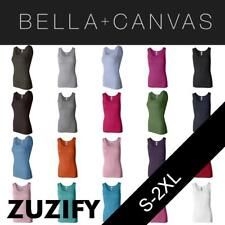 Bella + Canvas Ladies Junior Fit 2x1 Rib Boybeater Tank Top. 4000