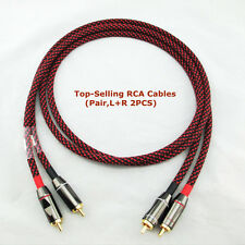 M81 Pair(2pcs) Canare High End L-4E6S Star Quad HIFI RCA Audio Cables 7in-33ft