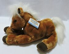 "Animal Alley Mustang Horse Pony Brown White Plush Stuffed Toy 12"" Tags"