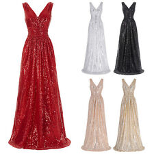 Shining Formal Long Pageant Dress Prom Evening Party Bridesmaid Wedding Ballgown