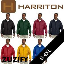 Harriton Nylon Windbreaker Staff Jacket. M775