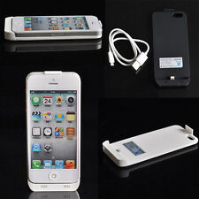 2200mAh External Power Bank Charger Pack Backup Battery Case Cover For iphone 5S