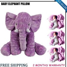 Elephant Pillow Cushion Baby Pillow Doll Toy Kids Soft Plush Lumbar Nose PURPLE
