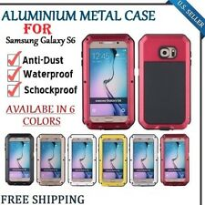Waterproof Shockproof Anti Dust Aluminum Metal Cover Case For Samsung Galaxy S6