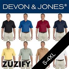 Devon & Jones Mens Executive Club Polo Shirt. D440