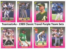 1989 Classic Travel Purple Baseball Set ** Pick Your Team **