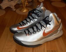 Nike KD V Metallic Silver Desert Orange Size 9-11 Texas Longhorns 554988-002
