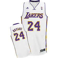 Adidas Men's Los Angeles Lakers Kobe Bryant White Player Swingman Home Jersey