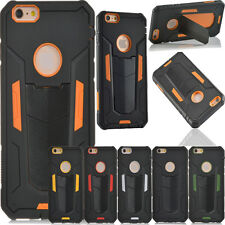 Hybrid Silicone Hard Protector Kickstand Armor Cover Skin Case For iPhoneSamsung