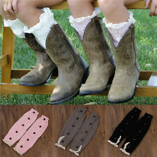 Kid's Girl Stylish Knitted Lace Boot Cuffs Toppers Leg Warmer Footless Socks w56