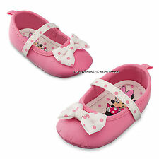 Minnie Mouse Pink Polka Dot with Bow COSTUME BABY Dress Up SHOES Disney Store