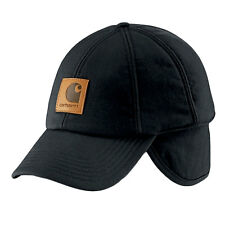 Carhartt - Mens Branded Work Flex Ear Flap Cap - Black