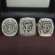 3pcs 2010 2012 2014 San Francisco Giants World Series Championship Rings 11Size