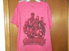 Marvel Avengers cast Hulk Black Widow Thor  Hawkeye Iron Man  t-shirt NWT S-L