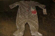 CARTER'S ADORABLE BABY GIRLS SLEEPER SIZES NB 3MO 6 MO NEW WITH TAGS NICE!