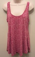 Old Navy XS Tank Top WOMENS Relax Pink Print Sleeveless NWT