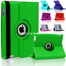 New Leather 360° Degree Rotating Book Stand Cover For iPad Air 2, iPad 3,2,4 Air