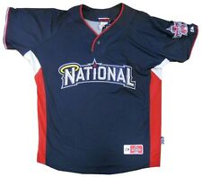 National League 2010 MLB Men All-Star Authentic BP Jersey Navy Blue Adult  sizes
