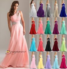 2017 Long Chiffon Wedding Formal Evening Party Bridesmaid Ball Gown Prom Dresses