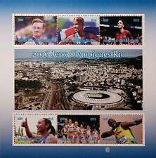 new RIO DE JANEIRO Olympics 2016 stamps 6 value Sheetlet feat. sports stars GIFT
