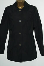 New Ladies BHS Black Lightweight Lined Smart Mac Coat Jacket Size 8 - 22