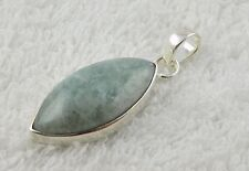 Natural Green Aventurine Marquise 13x23mm Cabochon Gemstone 925 Sterling Silver