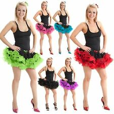 WOMENS 2 LAYER TUTU RUFFLE SKIRT LADIES HEN NIGHT GIRLS FANCY DRESS PARTY DANCE