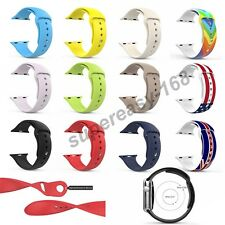 Strap Bracelet Band Silicone Fitness Replacement For Apple Watch iWatch 38/42mm