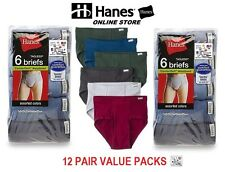Hanes Men's  Briefs 12 Pair Assorted Colors Tagless (Comfort Soft Waistband)