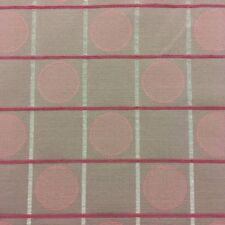 Fabricut Connect Four Squares and Dots Mahogany Upholstery Drapery Fabric