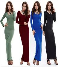 Sexy Ladies Long Sleeve Round Collar Grace Dresses Girls Women;s Jumpsuit Dress