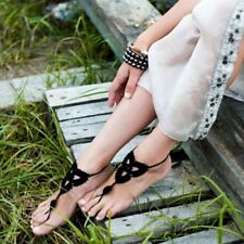 Bridal Wedding Foot Jewelry Sandals Beach Crochet Barefoot Anklet Knit Anklet