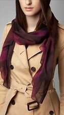 Burberry silk oblong scarf