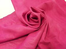 Lambskin Genuine Leather Hide Fuchsia Buttery Soft 2 oz.Beautiful Hides