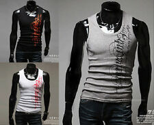 Mens Casual Tank Tops Cotton Sleeveless Quality Muscle A-shirt Sport T-Shirt y42