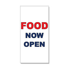 Now Open Red Blue Bar Restaurant  DECAL STICKER Retail Store Sign