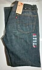 Auth Levis 505 Men's Jeans Regular Straight Fit Blue NWT Size W36 L34 Free Ship