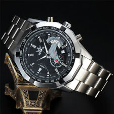Stainless Steel Date Automatic Mechanical Watch Mens Luxury Analog Sport + Box