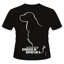 Working Cocker Spaniel Dog Breed T-Shirts, Round-Neck Style, Dogeria Design